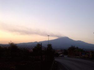 panorama del vulcano etna