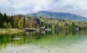 Il lago di Bohinj al Triglav National Park in Slovenia