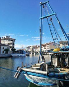 Porto canale di Grado città