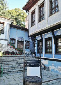 Cortile di una casa museo di Plovdiv Bulgaria