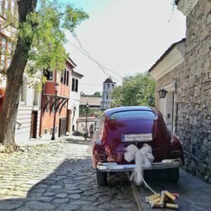 Matrimonio nella città vecchia di Plovdiv Bulgaria