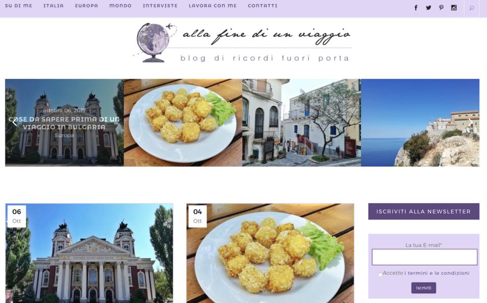 Homepage blog Alla fine di un Viaggio