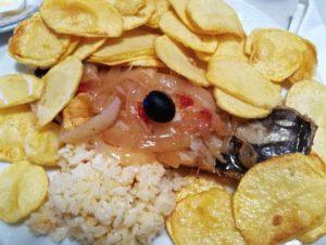 Piatti tipici portoghesi bacalhau a braga