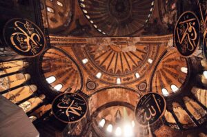 interno basilica hagya sophia istanbul