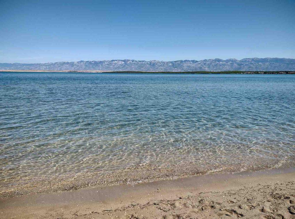 viaggio in croazia, la spiaggia di nona